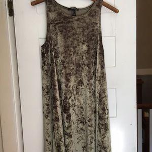 Forever 21 velvet high neck tunic dress